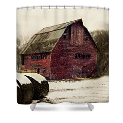 Snow Bales Shower Curtain