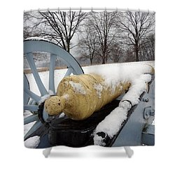 Snow Cannon Shower Curtain by Michael Porchik