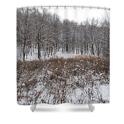 Snow Covered Woodland Shower Curtain