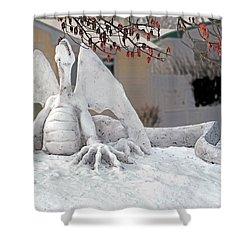 Snow Dragon 3 Shower Curtain by Terry Reynoldson