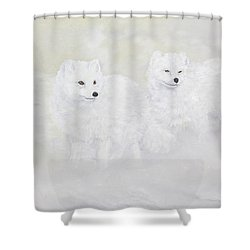 Snow Ghosts Of The North Shower Curtain by Johanna Lerwick