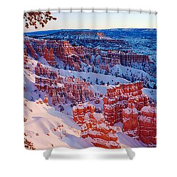 Snow In Bryce Canyon National Park Shower Curtain