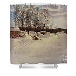 Snow In Solbrinken Shower Curtain