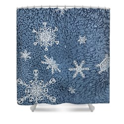 Shower Curtain featuring the painting Snow Jewels by Margaret Bobb