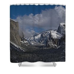 Snow Kissed Valley Shower Curtain