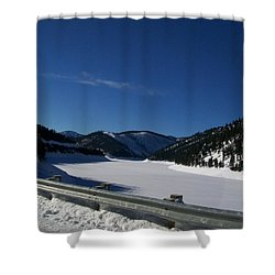 Snow Lake Shower Curtain by Jewel Hengen