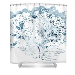 Ghost Cat Shower Curtain