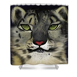 Snow Leopard - The Eyes Have It Shower Curtain