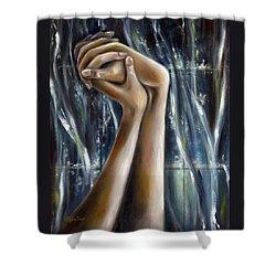Shower Curtain featuring the painting Snow Light by Hiroko Sakai