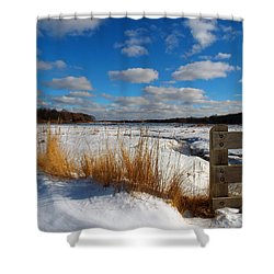 Shower Curtain featuring the photograph Snow Marsh by Dianne Cowen
