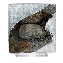 Snow Melt 1 Shower Curtain