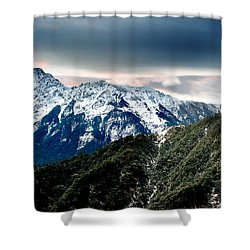 Snow Mountain Shower Curtain by Yew Kwang