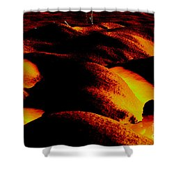 Snow On Fire Shower Curtain by Carol Lynch