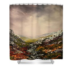 Snow On The Cairngorms Shower Curtain by Jean Walker