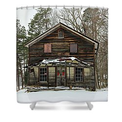 Snow On The General Store Shower Curtain by Benanne Stiens