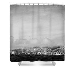Snow On The Tehachapis Shower Curtain