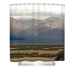 Snow Peaks Shower Curtain by Stuart Litoff