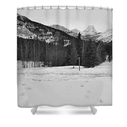 Snow Prints Shower Curtain by Cheryl Miller