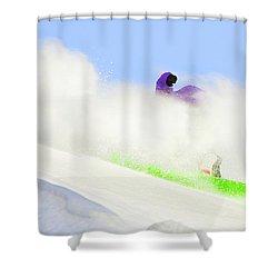 Snow Spray Shower Curtain