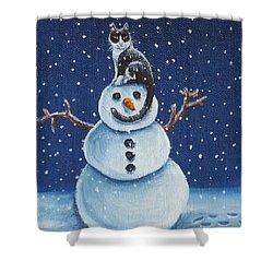 Snow Stormie Shower Curtain by Beth Clark-McDonal