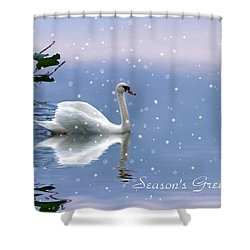 Snow Swan II Shower Curtain