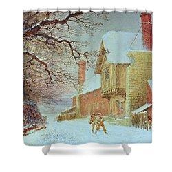 Snowballing At Tiddlington Shower Curtain by William W Quatremain