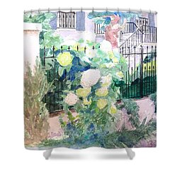 Snowballs In Summer Shower Curtain