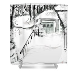 Snowbound Shower Curtain by Jean Pacheco Ravinski