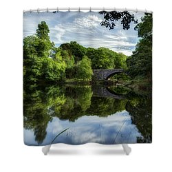 Snowdonia Summer On The River Shower Curtain by Beverly Cash