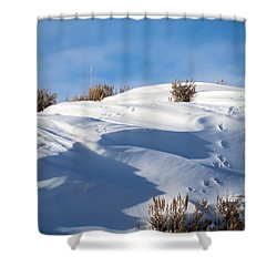 Snowdrifts Shower Curtain