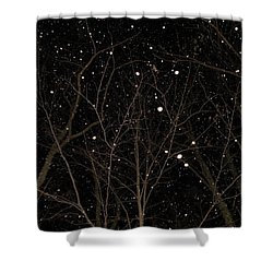 Shower Curtain featuring the photograph Snowfall by Carlee Ojeda