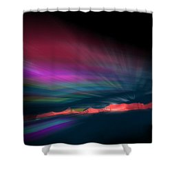 Snowfence Borealis Shower Curtain