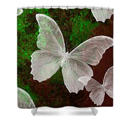 Snowflies Shower Curtain