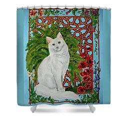 Snowi's Garden Shower Curtain