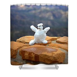 Snowman At Bryce - Square Shower Curtain by Gordon Elwell