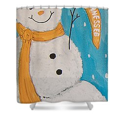 Snowman University Of Tennessee Shower Curtain