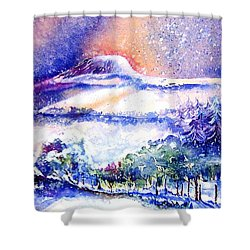 Snowstorm Over Eagle Hill Hacketstown  Shower Curtain
