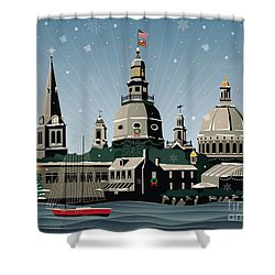 Snowy Annapolis Holiday Shower Curtain