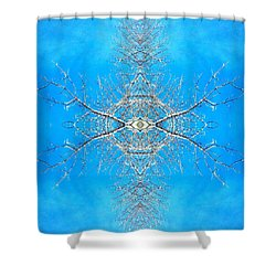 Shower Curtain featuring the photograph Snowy Branches In The Sky Abstract Art Photo by Marianne Dow
