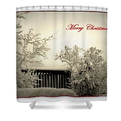 Snowy Christmas Shower Curtain