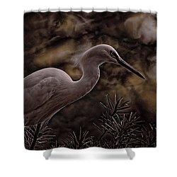 Snowy Egret 002 Shower Curtain