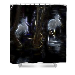 Snowy Egrets 1 Shower Curtain by William Horden