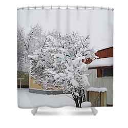 Snowy Lilac Shower Curtain