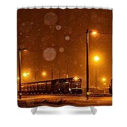 Snowy Night Shower Curtain