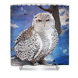 Snowy Owl . Shower Curtain