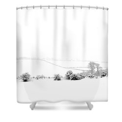 Shower Curtain featuring the photograph Snowy Panorama by Liz Leyden