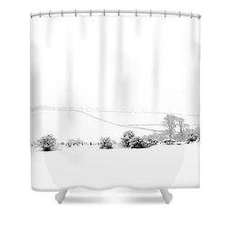 Snowy Panorama Shower Curtain