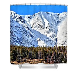Snowy Ridge Shower Curtain