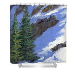 Snowy Slope Shower Curtain