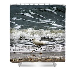 Snowy White Egret Shower Curtain